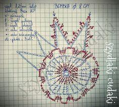 Discover thousands of images about Szydłaki Cudaki - Amigurumi - Handmade with love: listopada 2017 Thread Crochet, Crochet Doilies, Crochet Yarn, Christmas Snowflakes, Christmas Baubles, Christmas Decorations, Navidad Diy, Lace Decor, Decorative Plates