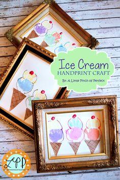 Ice Cream Handprint Craft