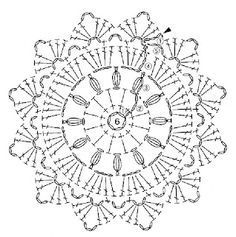 crochet coaster chart by Banphrionsa Filet Crochet, Blog Crochet, Crochet Beret, Crochet Diy, Crochet Round, Thread Crochet, Crochet Stitches, Double Crochet, Motif Mandala Crochet