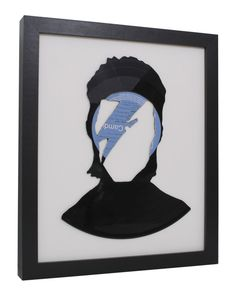 David Bowie Recycled Hand Cut Vinyl Record by NoGhostsToday, £29.99