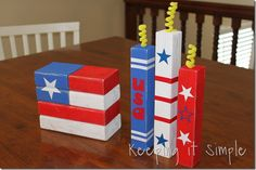 Flag and firecrackers by Keeping it Simple