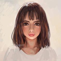 'Beige' by hiba-tan Digital Portrait, Digital Art, Hiba Tan, Photoshop, Drawing People, Face Art, Art Girl, Art Inspo, Amazing Art