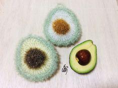 [코바늘] 아보카도 수세미 / 코바늘 수세미 / 아보카도 수세미 뜨기 : 네이버 블로그 Crochet Kitchen