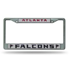 Show everyone who you root for with this chrome license plate frame! Features your favorite team's name and logo, and has pre-drilled holes for easy mounting. The chrome frame is very durable and will last for a long time! License Plate Covers, License Plate Frames, Nhl Chicago, Chicago Blackhawks, Plates For Sale, San Jose Sharks, Indiana Pacers, Atlanta Falcons, Chrome