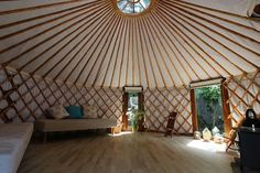 Yurt : 'Cloud House' Traditional Mongolian Ger, Off Grid Home, Movement Studio, Guest House Wood Stove Chimney, Yurt Home, Small Rings, Grid, Retreat Ideas, Yurts, Clouds, Traditional, Houses