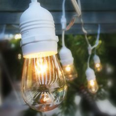 Fantado 10 Suspended Socket Outdoor Grade Patio Commercial String Light Set, Bulbs, 21 FT White Cord w/ Medium Base, Weatherproof by PaperLanternStore Vintage String Lights, Patio String Lights, Led Rope Lights, Paper Lantern Store, Paper Lanterns, Flameless Candles With Timer, Fiber Optic Christmas Tree, White Cafe, Outdoor Lighting