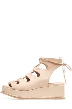 Jeffrey Campbell Shoes XIMENO Sandals in NATURAL SUEDE SILVER