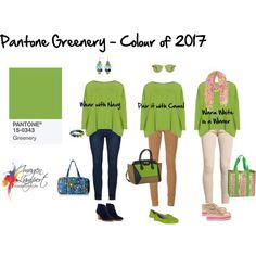 Pantone Greenery - what colours to wear it with