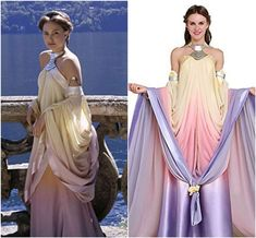 Get a new makeover in Star Wars Padme Amidala inspiring outfits. Showcasing different variations of costumes for Cosplay and Halloween. Padme Costume, Disfraz Star Wars, Theme Star Wars, Star Wars Dress, Star Wars Padme, Fantasy Gowns, Star Wars Outfits, Star Wars Wedding, Star Wars Costumes
