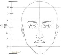 How to draw a female face in 8 steps – Drawing Techniques Face Proportions Drawing, Female Face Drawing, Drawing Heads, Drawing Practice, Drawing Skills, Drawing Techniques, Art Drawings Sketches Simple, Pencil Art Drawings, Beginner Sketches