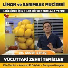 Sarımsak ve limonla yapılan sihirli iksir; kalpten, kireçlenmeye, hipertansiyondan şekere kadar birçok hastalığa fayda sağlıyor.  Her derdin devası doğada gizli. Birçok hastalığa iyi gelen bitkiler, aynı zamanda ömrü uzatıyor. Faydaları saymakla bitmeyen limon da, sarımsakla birleşince mucizeler yaratıyor. Cinsellikten kalbe, damar sertliğinden felce kadar birçok hastalığa iyi gelen limon-sarımsak karışımı şifa veriyor. Ancak, bu karışımı kullanmadan önce mutlaka doktorunuza danışmanız…