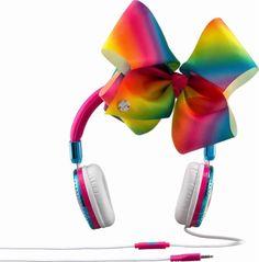 eKids - JoJo Siwa On-Ear Headphones - White/blue/yellow/green/pink - Front_Zoom