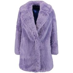 Vivetta Faux fur coat (244.030 CLP) ❤ liked on Polyvore featuring outerwear, coats, lilac, fake fur coat, vivetta, purple faux fur coat, purple coats and faux fur coat