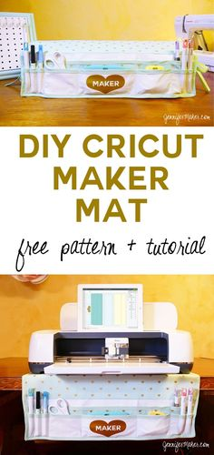 My Cricut Maker Mat: Organizer + Dust Cover in One! - Jennifer Maker - - My Cricut Maker Mat: Organizer + Dust Cover in One! Cricut Air 2, Cricut Help, Cricut Vinyl, Cricut Craft, Sewing Tools, Sewing Projects, Fleece Projects, Diy Projects, Circuit Projects