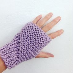 Free Knitting Pattern for Easy Hand Sleeves - These fingerless mitts are knit flat in garter stitch and seamed. Designed by Claire Garland Easy Knitting, Knitting For Beginners, Loom Knitting, Knitting Patterns Free, Knit Patterns, Free Pattern, Sweater Patterns, Knitting Tutorials, Knitting Ideas