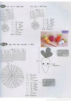 钩针胡萝卜...来自hong_doris的图片分享-堆糖
