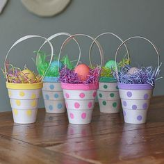These would be fab for Easter- the kids would love them! Polka Dot Treat Cups by Amanda Formaro for Spoonful.com