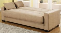 Furniture, Captivating Contemporary Sofa Beds Transform Called Napa Convertible Sofa Bed In Beech Microsuede Also Brown Laminate Floor And G...