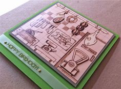 Gears Scrap  e Legami di Perle: Una card al maschile...
