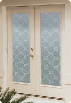 Chateau Privacy Window Film, Non-adhesive, static cling window film. >> WindowFilmWorld.com