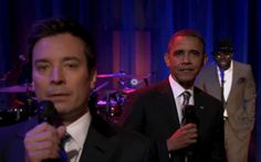President Obama made television history last night by becoming the first sitting president to slow jam the news with NBC's Jimmy Fallon.