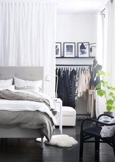 Semi-open closet