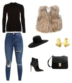 """fashion  inspiration Lubica"" by ludmila01-1 on Polyvore featuring Balmain, Maison Michel, Old Navy, River Island, MANGO and Oscar de la Renta"