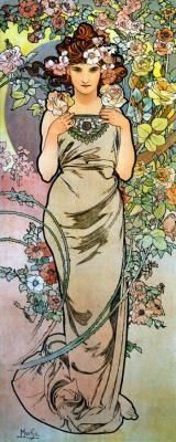 """Rose Mucha -- Liberty Puzzles -- 245 pieces, 7.00"""" x 17.75"""""""