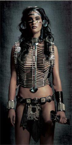 Steampunk Native Americans - HA! Love it!