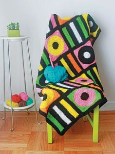 Licorice Allsorts Afghan - Crocheted Abode A La Mode, Book Review