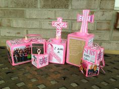 Breast Cancer Photo Blocks