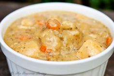 This Clean Eating Chicken And Dumplings Recipe will rival any processed or canned variety and even outdo them! By Tiffany McCauley of TheGraciousPantry.com.