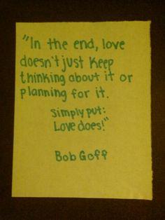 love does Bob goff