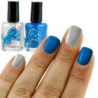 Detroit Lions Light Blue-Silver 2-Pack Nail Polish!