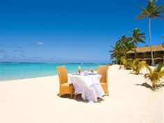 Dine with your toes in the sand Sanctuary Rarotonga Cook Islands Resorts, Going Off The Grid, Holiday Places, South Pacific, 5 Star Hotels, Hiking Trails, Change The World, Snorkeling, Hotel Offers