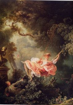 FRAGONARD Jean-Honoré - French (1732 – 1806) ~ the swing is the 'icon' of the ROCOCO: Delight - gentle manners - luxury and 'savoir vivre' - pastel colours