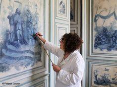peinture chinoiseries Château de Champs sur Marne