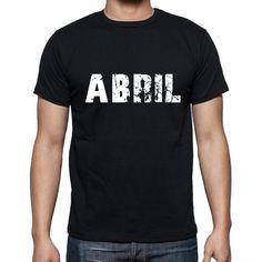 #negro #palabra #camiseta Caminar por la calle en nuestras camisetas como si estuviera en la desfile de moda! Comprar online ->https://www.teeshirtee.com/collections/men-spanish-dictionary-black/products/abril-mens-short-sleeve-rounded-neck-t-shirt