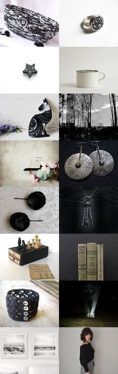 Lovely Etsy Treasury with unique handmade cat bed.... Lovely black and white dog bed basket.... Dark Shadows! by Erifili on Etsy--Pinned+with+TreasuryPin.com