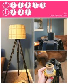 DIY Tripod Lamp (and I already have that lampshade, I'm halfway there!)
