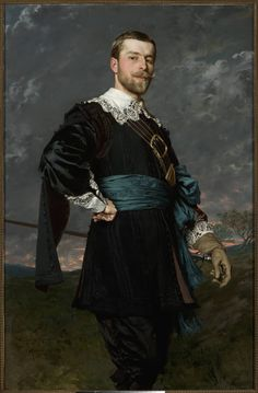 Władysław Czachórski (Polish, 1850-1911), Portrait of Stanisław Czachórski (brother of the artist), oil on canvas, 1889