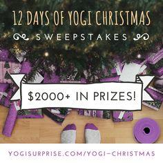 12 Days of Yogi Christmas Sweepstakes