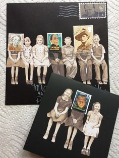 There is always ONE in every crowd, mail art and card for Marita, by Gina G
