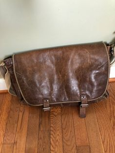 Leather Messenger bag by Fossil 3a16c84bf68ce