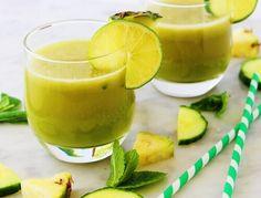 Frullato-mela-ananas-menta-limone