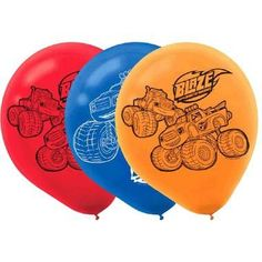 Blaze and the Monster Machines Printed Latex Balloons (6 Per Package)