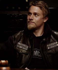 """Charlie Hunnam in character as """"Jackson Nathaniel 'Jax' Teller"""", from Sons of Anarchy, 2008-"""