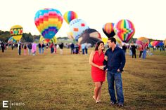 lauren & neil's hot air balloon engagement session | Joe Elario Photography