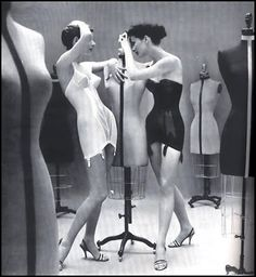 shapewear 1950s - I have a Rago corselette just like these. Holds (a) everything in and (b) up the stockings well.