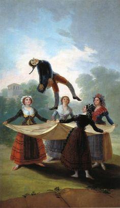 """[명화산책] 고야, 밀짚 인형놀이 """"The Straw Manikin"""", 1791-92. 프라도 미술관 pic.twitter.com/JpUEeTNoGQ"""